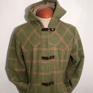 WoolRich Women's Plaid Century Wool Duffle Coat S